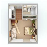 Bán căn hộ Eco Home 1 Phòng Ngủ tại Quận Bình Thạnh. Giá rẻ tặng full nội thất