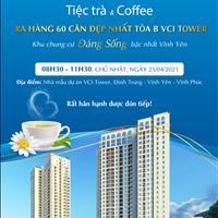 Bán căn hộ cao cấp 3 phòng ngủ tại chung cư VCI Tower TP Vĩnh Yên - Vĩnh Phúc giá 1.50 tỷ