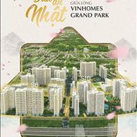 Căn hộ Vinhomes Grand Park Q9, 1PN chỉ 1,6 tỷ, chỉ 15% nhận nhà và voucher 200tr, chiết khấu 1%