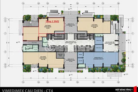 Cho  Thuê Lô Shophouse Chân đế tòa nhà  chung cư Iris Garden, Diện tích 300m2 . Hotline: 0326004974