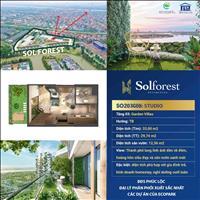 Studio thượng lưu Solforest Ecopark 33m2 nhà cùng 12m sân vườn trên không - độc quyền