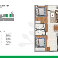 Kẹt tiền bán nhanh căn hộ Vista 58m2, 2PN 2wc trả trước 450tr liền kề Q12 - Gò vấp - nhận nhà 2021