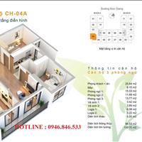 Bán căn hộ loại 3PN, 2vs tại chung cư Bình Minh Garden số 93 Đức Giang, hỗ trợ lãi suất 0%/24 tháng