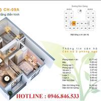 Cần bán căn hộ 75m2 2PN, 2 VS chung cư Bình Minh Garden 93 Đức Giang cửa vào Đông Nam quà tặng 12%