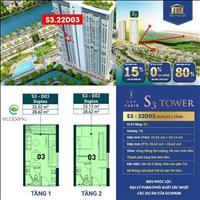 Duplex 1 phòng ngủ 2WC - 57m2 - tầng 22, view sông Hồng, vốn chỉ 373tr, liên hệ