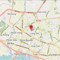 Bán gấp đất thổ cư gần đường Hương Lộ 2, khu trung tâm Phường Long Tâm 140m2 giá chỉ 12xx