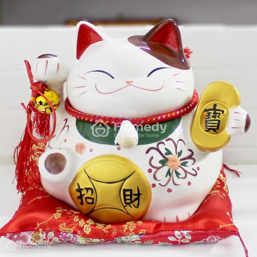 Mèo thần tài làm bằng gốm