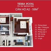 (Chính chủ) bán căn hộ Terra Royal Q3, diện tích 58m2 có 2 phòng ngủ, trọn gói 5,3 tỷ