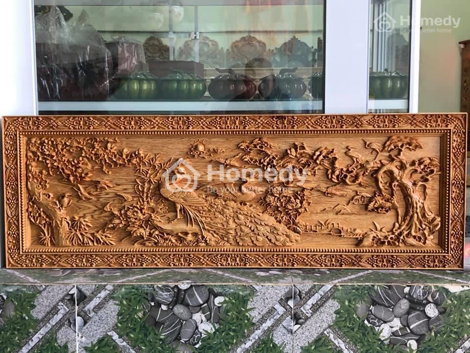 tranh gỗ điêu khắc uyên ương hồ điệp