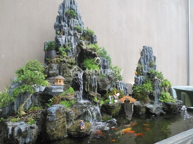 Tiểu cảnh đẹp thác nước