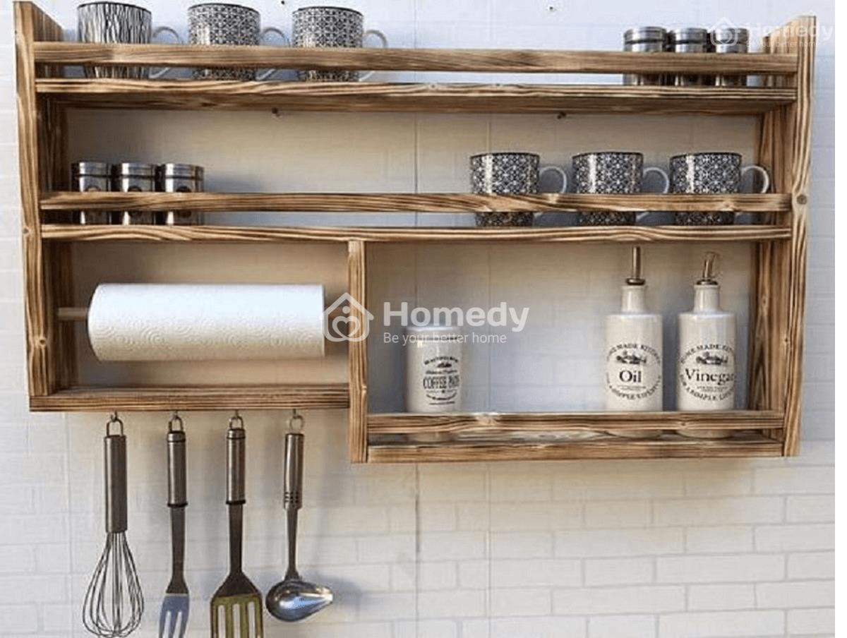 Mẫu kệ bếp gỗtự nhiên