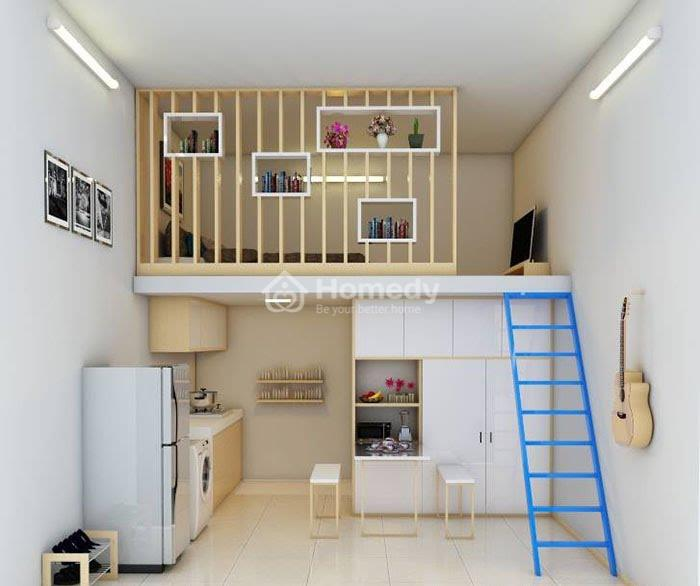 Thiết kế phòng trọ 15m2 kiểu căn hộ mini