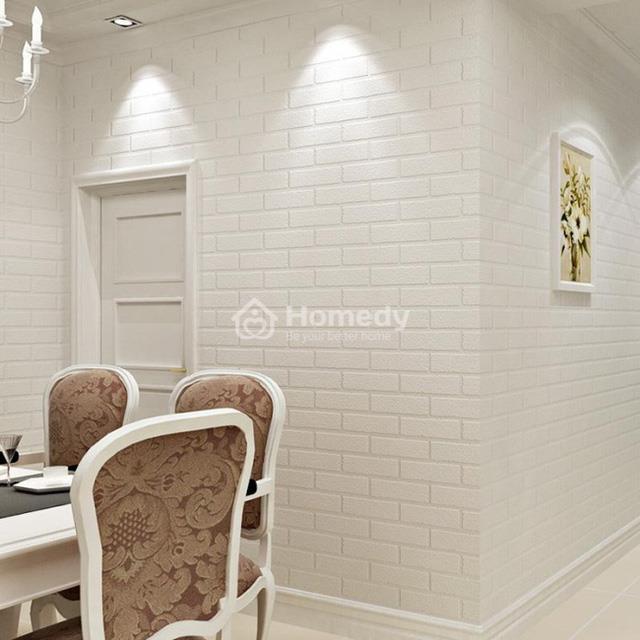 Xốp dán tường cách âm trắng tinh tế