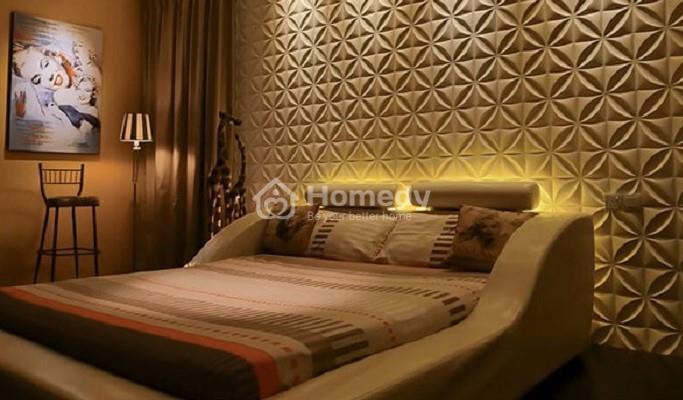 Dán tường cách âm phòng ngủ sang trọng