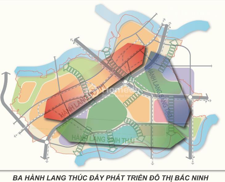 3 hành lang phát triển Bắc Ninh