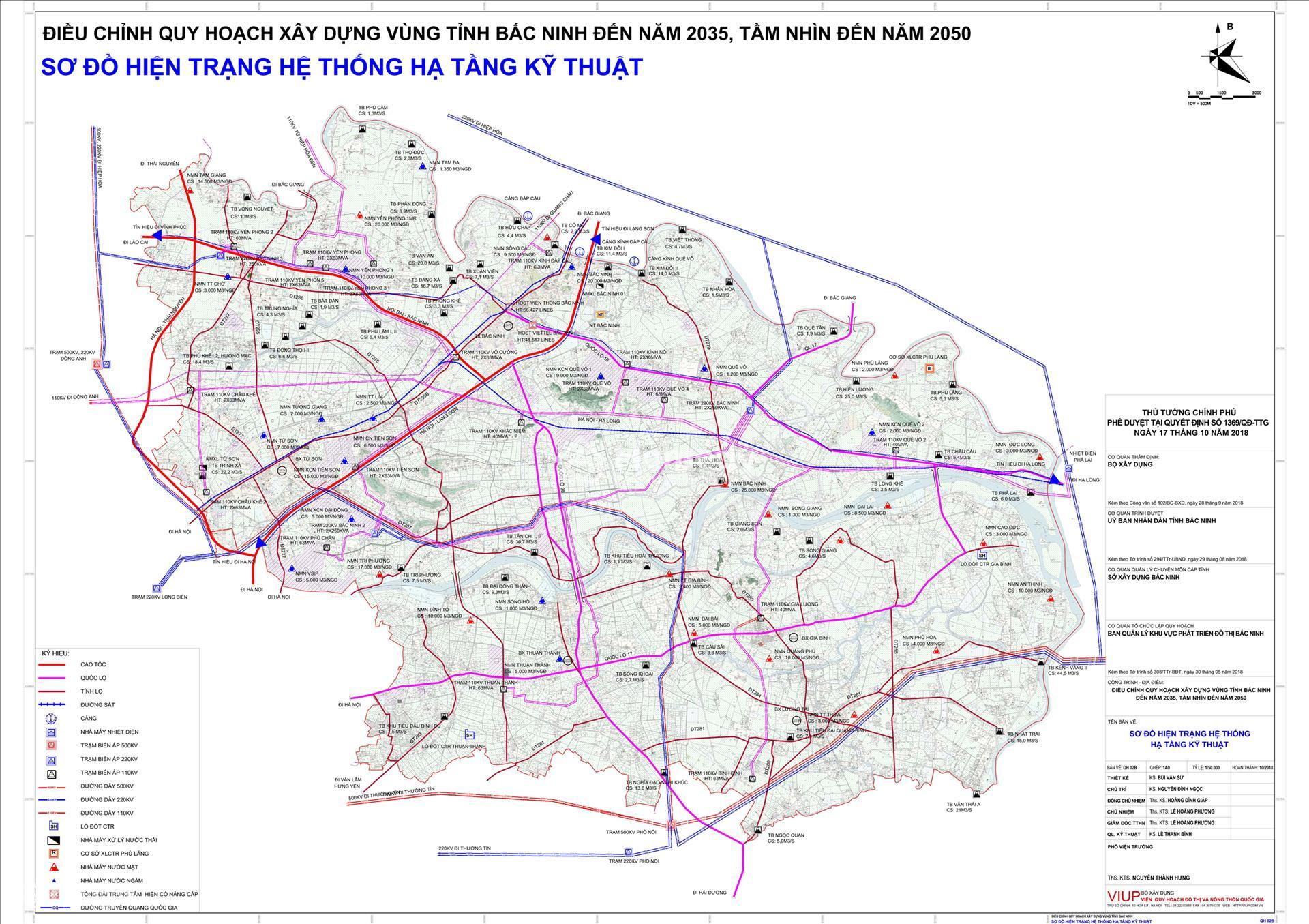 Bản đồ quy hoạch chung thành phố Bắc Ninh