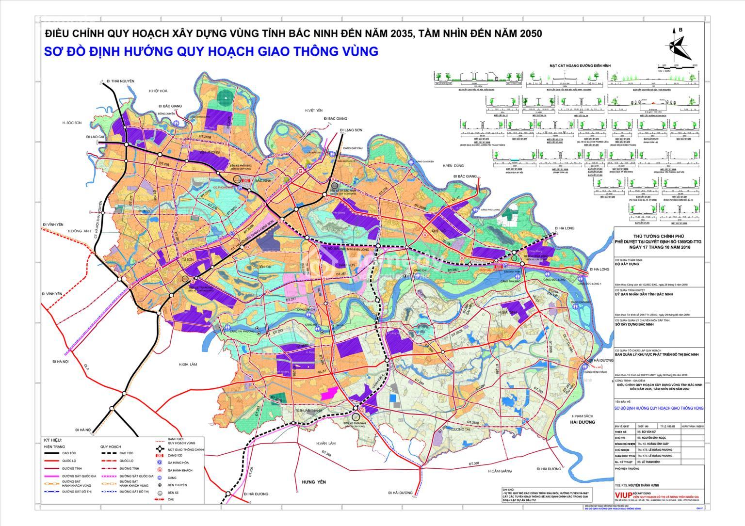 Bản đồ quy hoạch giao thông thành phố Bắc Ninh