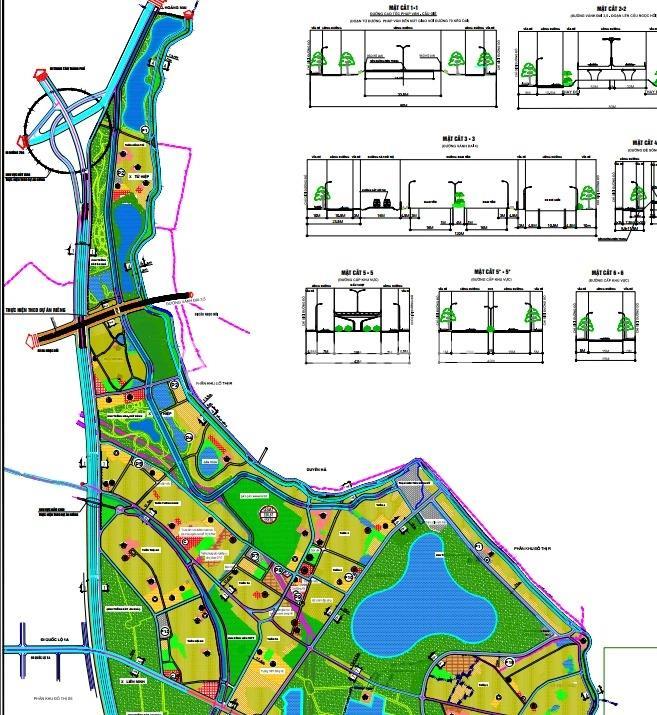 Bản đồ quy hoạch huyện Thanh Trì về giao thông phần thuộc quy hoạch Phân khu GS(A)