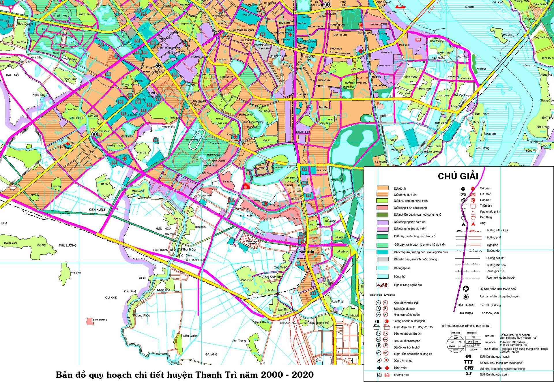 Thông tin, bản đồ quy hoạch huyện Thanh Trì