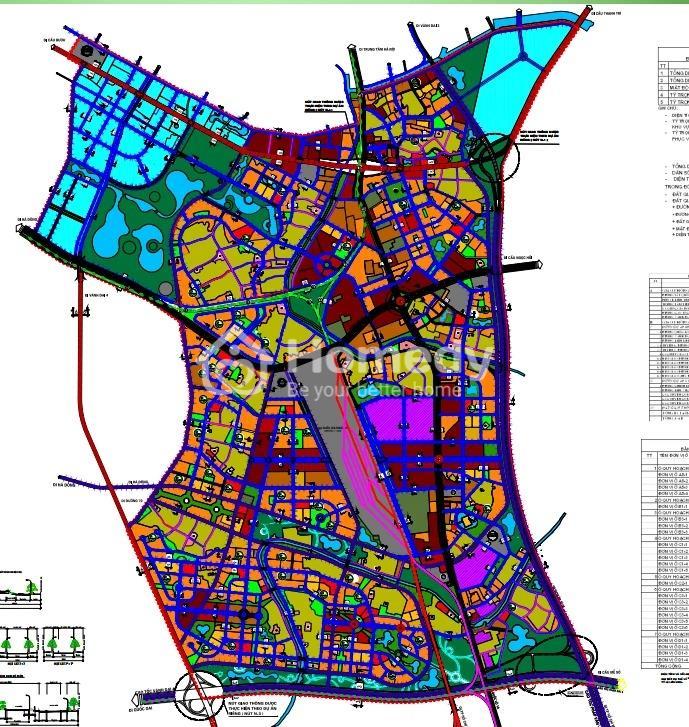 Bản đồ quy hoạch huyện Thanh Trì về giao thông phần thuộc quy hoạch Phân khu S5.
