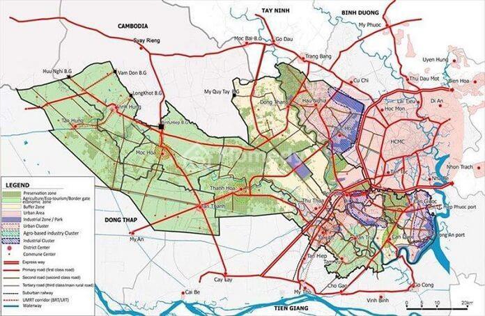 Bản đồ quy hoạch huyện Bến Lức chi tiết