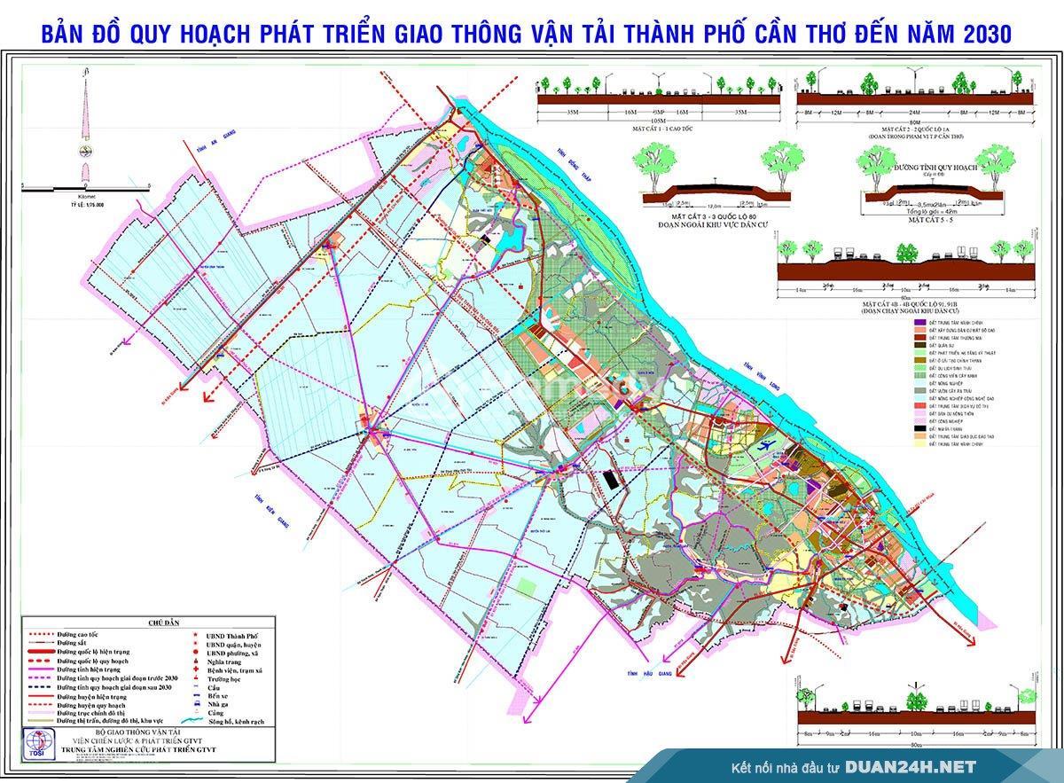 Chi tiết quy hoạch giao thông thành phố Cần Thơ