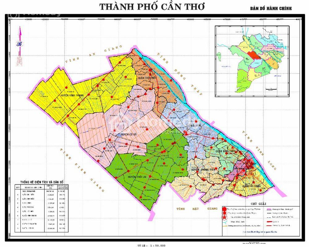 Tổng quan về vị trí hành chính thành phố Cần Thơ