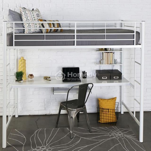 Sử dụng giường tầng kết hợp bàn học