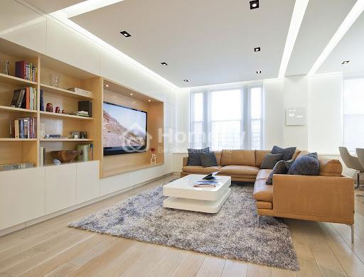 Sơn nhà trắng sứ kết hợp nâu gỗ