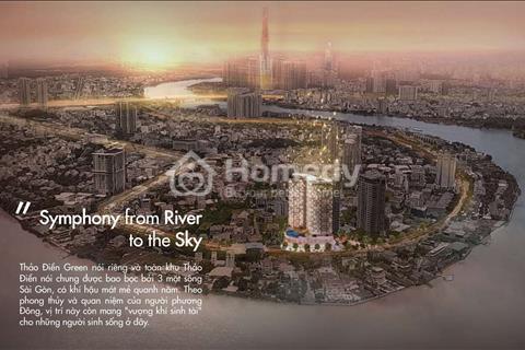 Thảo Điền Green - Booking trực tiếp chủ đầu tư - chỉ 204 căn hộ vị trí độc tôn 3 mặt view sông