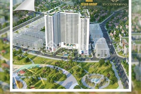 Cần bán căn hộ 2 phòng ngủ 64m2, giá 1,621 tỷ, tầng đẹp, view đẹp nhất tòa nhà Tecco Diamond