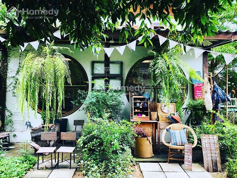Trang trí mặt tiền quán cafe sân vườn nổi bật