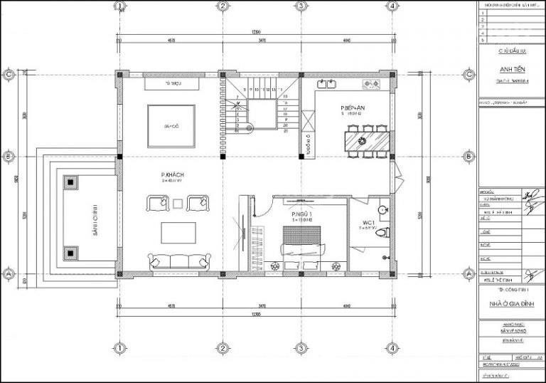 Mẫu nhà mái nhật 2 tầng 9x12m