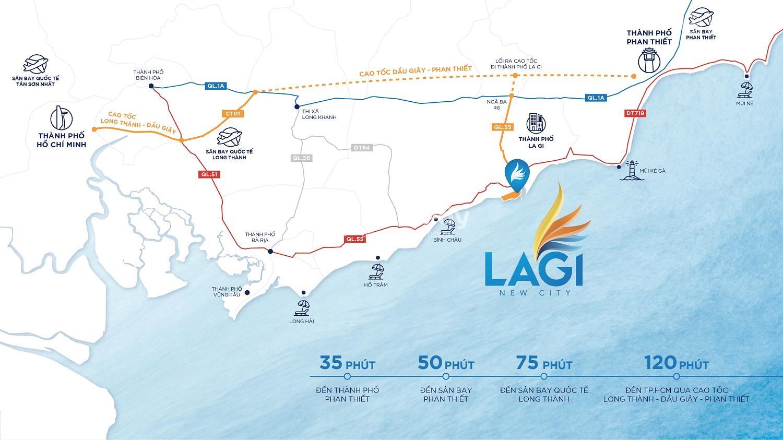 Vị trí địa lý của dự ánLagi New City: