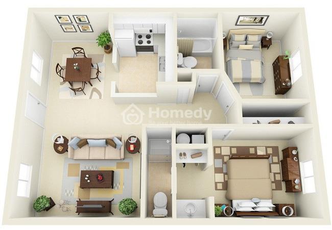 Chọn căn hộ đầy đủ nội thất