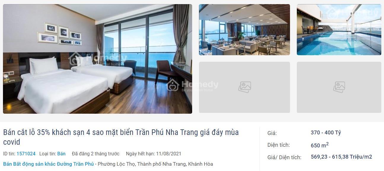 Bán khách sạn Nha Trang 4 sao view biển siêu đẹp