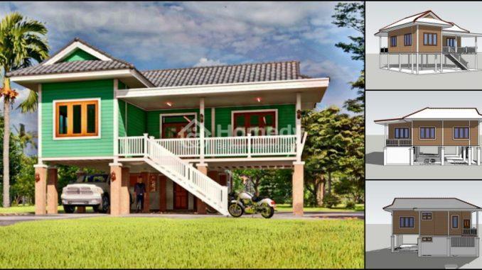 Nhà 2 tầng kiểu nhà sàn