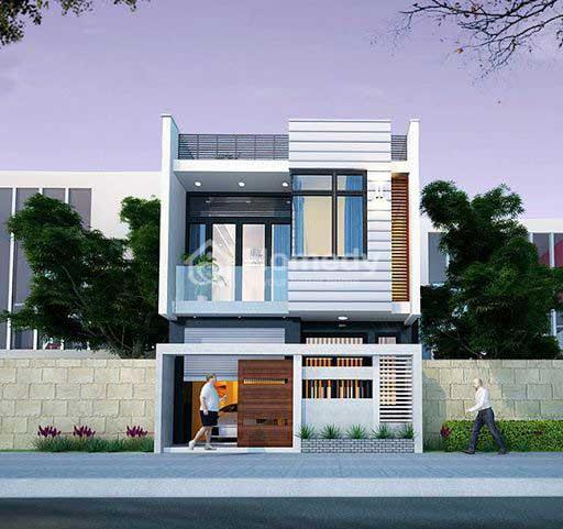 Mẫu nhà vuông 2 tầng 80m2 đẹp phong cách hiện đại