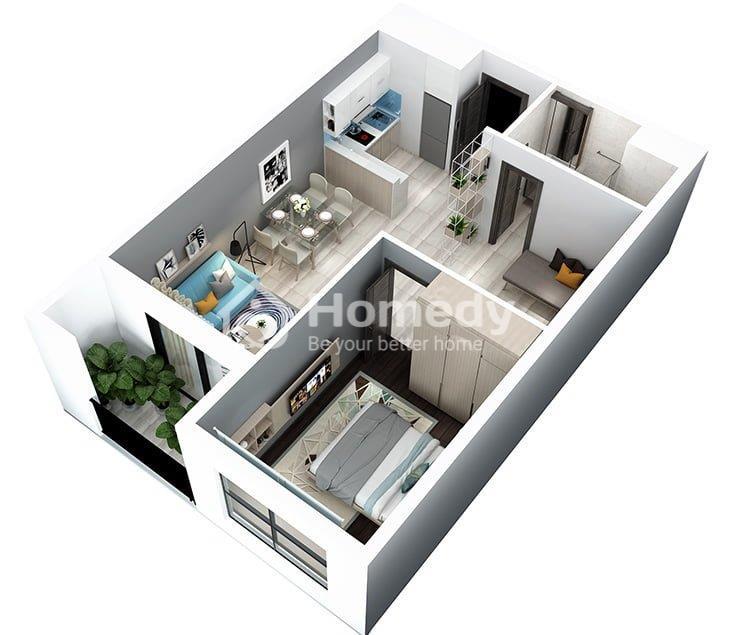 thuê chung cư 1 phòng ngủ hà nội