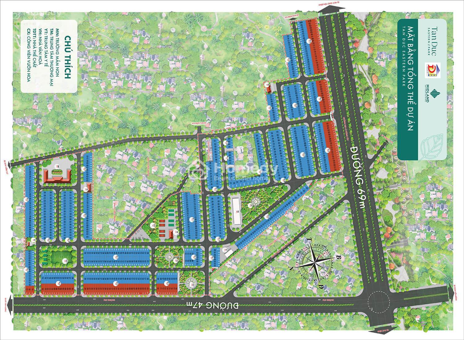 Mặt bằngdự án Tấn Đức Eastern Park
