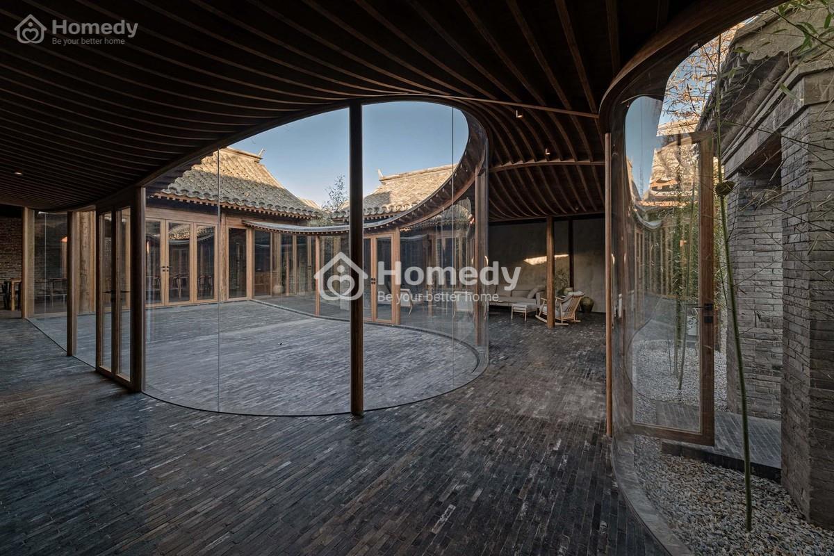 Mẫu tứ hợp viện hiện đại rộng 500m2 tại Bắc Kinh