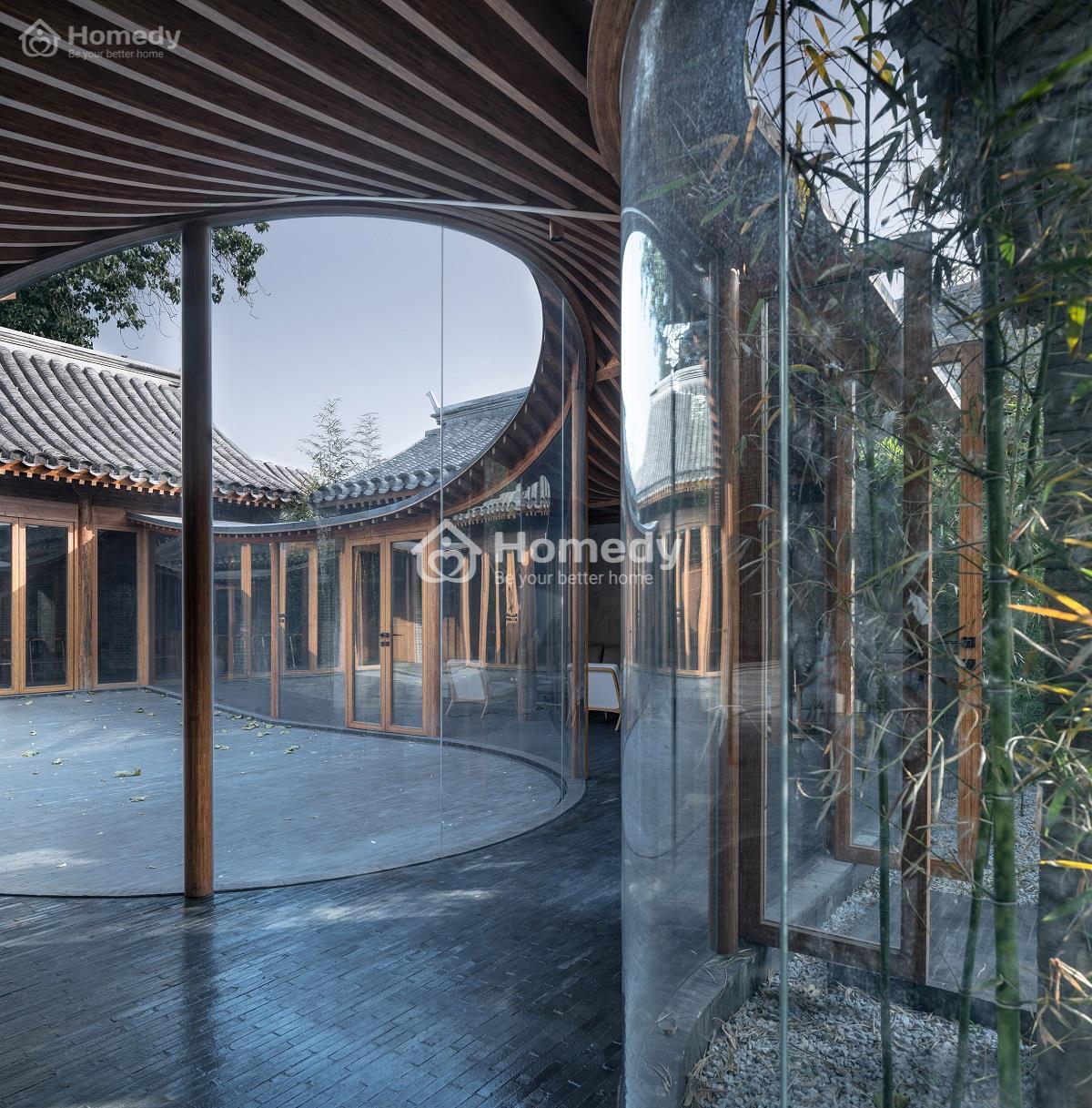 Mẫu tứ hợp viện hiện đại rộng tại Bắc Kinh