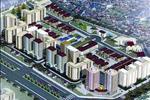 Phối cảnh khu đô thị Mễ Trì Hạ bao gồm các dãy nhà liền kề, khu nhà ở cao tầng và các công trình dịch vụ tiện ích.