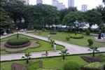 Hướng nhìn ra Công viên Indira Gandhi từ dự án Oriental Plaza.