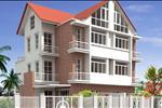 Kiểu nhà hiện đại kết hợp với mái ngói cổ điển nhưng vẫn không làm giảm đi vẻ sang trọng của ngôi nhà.