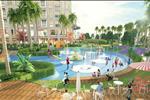 Từ vị trí trung tâm của đồi vọng cảnh, màu xanh của cây cỏ sẽ được chuyển tiếp sang màu xanh của bể bơi lớn ngoài trời phía đông và không gian khoáng đạt của sân chơi nước quy mô lớn.