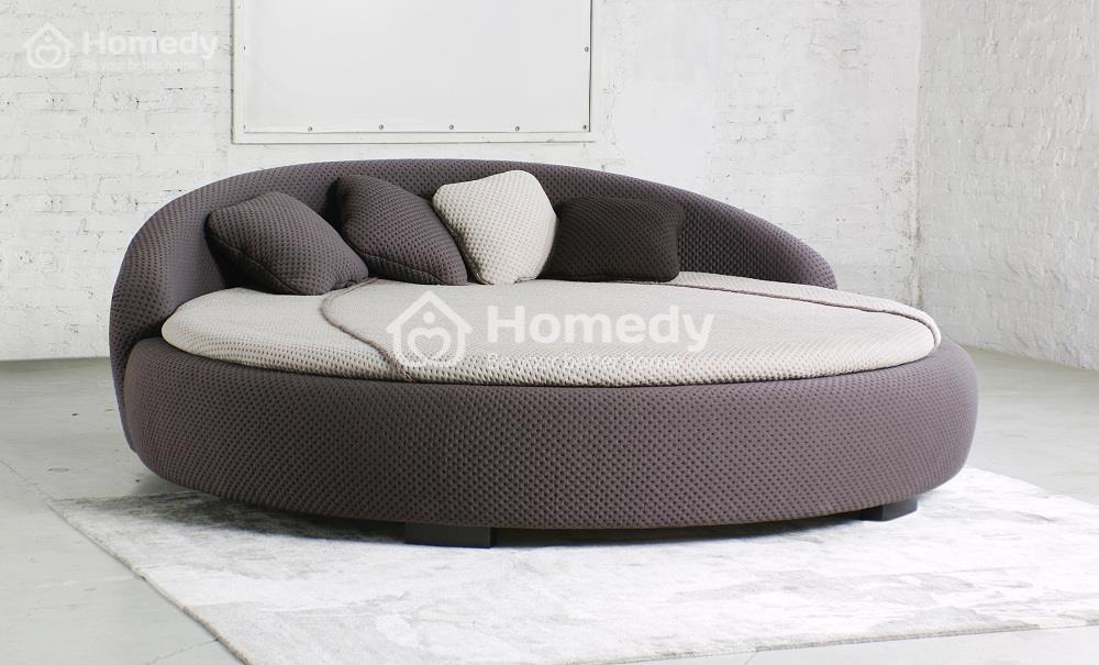 giường tròn bé