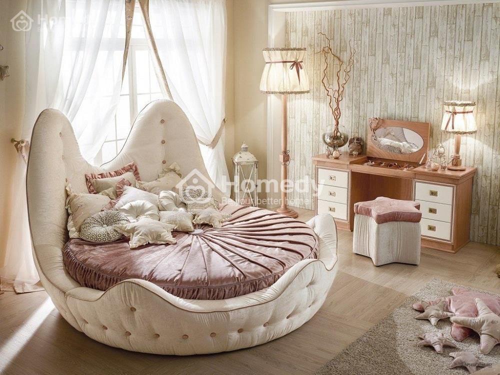 giường tròn rộng
