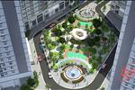 Hệ thống khuôn viên cây xanh được thiết kế xen giữa các tòa nhà không chỉ mang tới cảnh quan đẹp mà còn đóng vai trò như lá phổi xanh mang tới không khí trong lành cho các cư dân sinh sống tại đây.