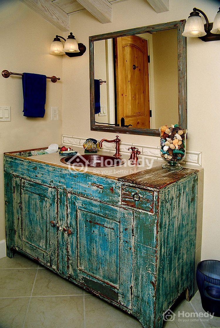 phòng tắm phong cách xưa cũ